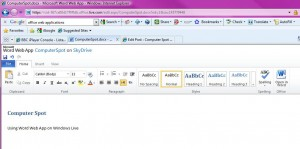 Windows Live - Word User Interface