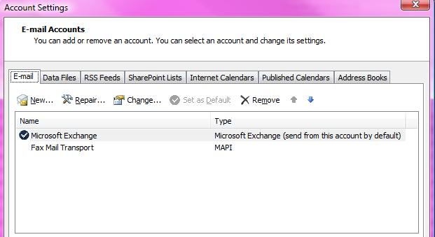 Email Account Settings