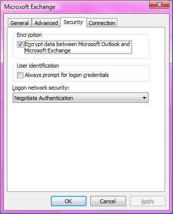 Microsoft Exchange Security Settings