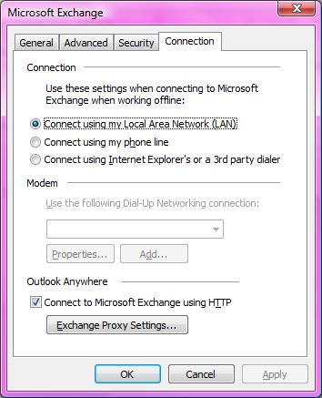 Microsoft Exchange Connection