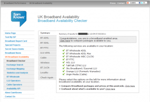 FTTC Availability Checker