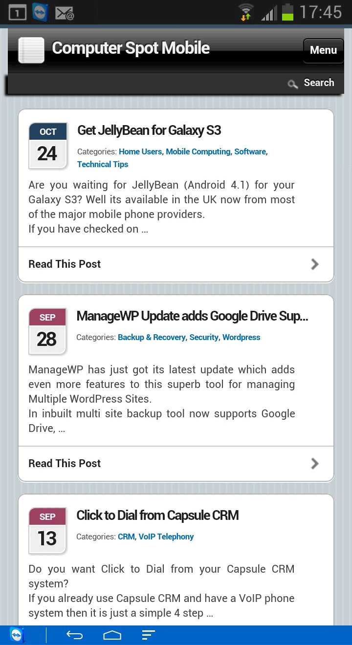 Mobile 1 Instant Mobile WordPress Blog